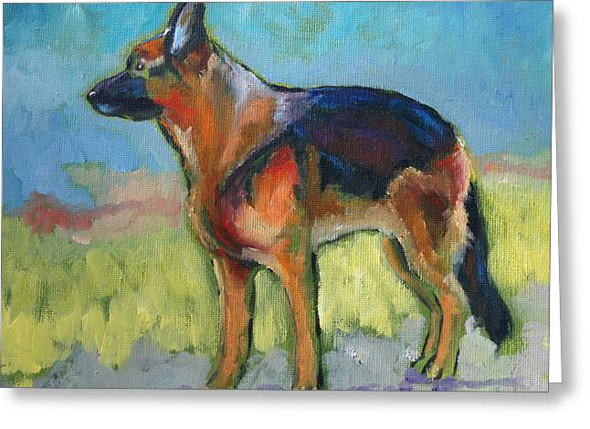 King The German Shepherd Dog Greeting Card
