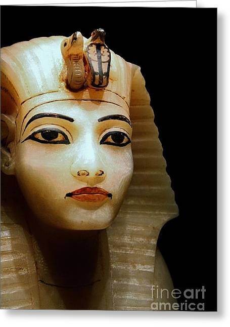 King Tut's Canopic Greeting Card by Vicki Maheu