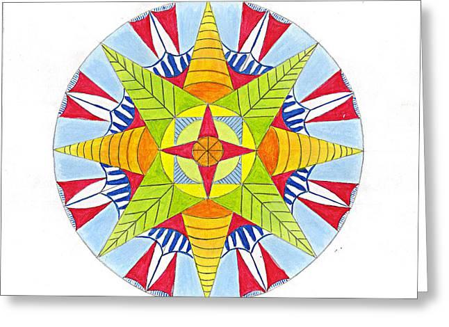 Kingdom Mandala Greeting Card by Silvia Justo Fernandez