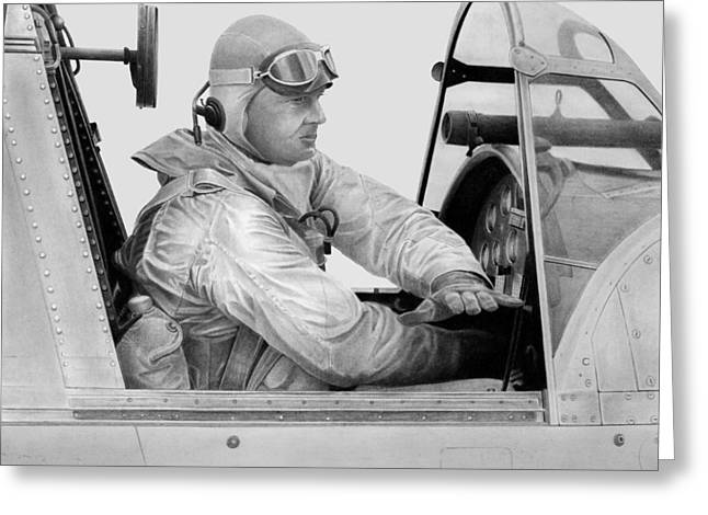 Kingfisher Pilot Greeting Card by Lyle Brown