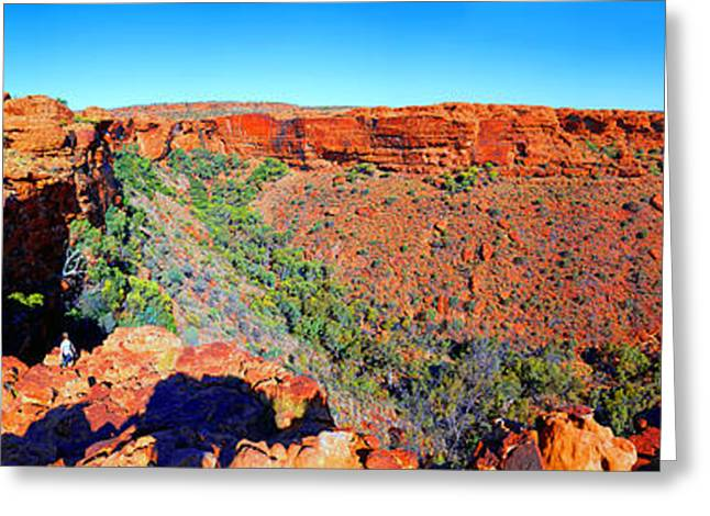 Kings Canyon Central Australia Greeting Card by Bill  Robinson