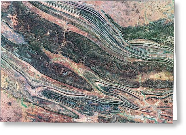 Kings Canyon Greeting Card by Us Geological Survey