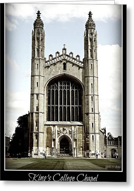 King's College Chapel - Poster Greeting Card by Stephen Stookey