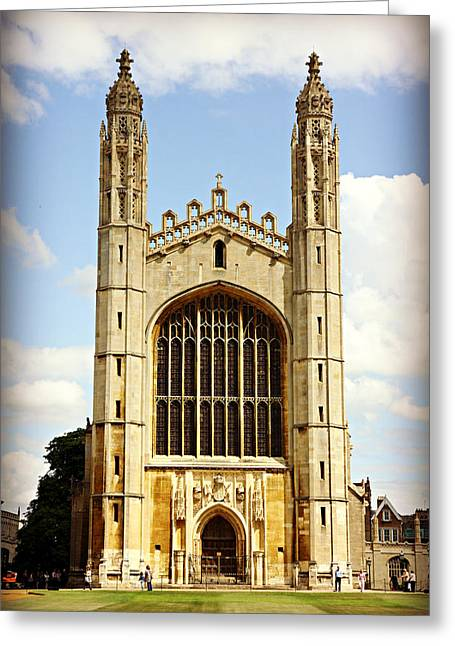 King's College Chapel Greeting Card by Stephen Stookey