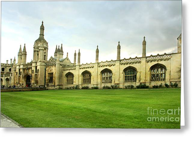 King's College Facade Greeting Card