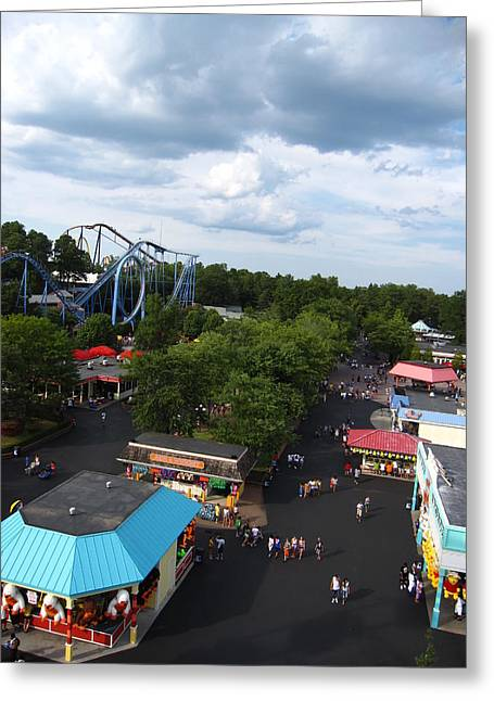Kings Dominion - 12126 Greeting Card by DC Photographer