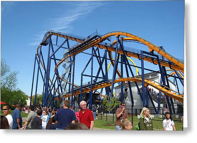Kings Dominion - Dominator - 01131 Greeting Card by DC Photographer