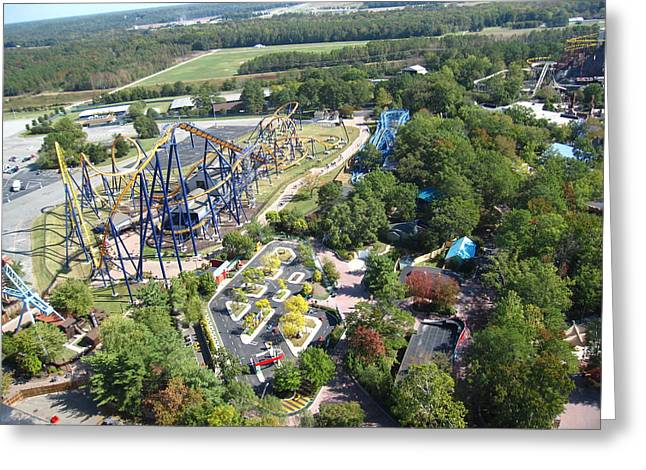 Kings Dominion - Dominator - 12125 Greeting Card by DC Photographer