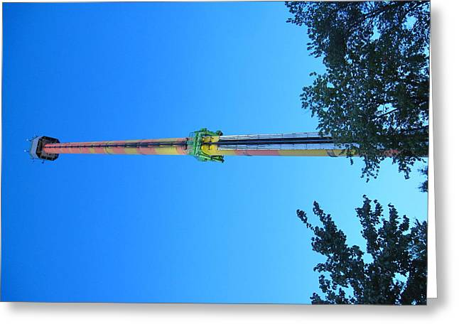 Kings Dominion - Drop Tower - 12126 Greeting Card by DC Photographer