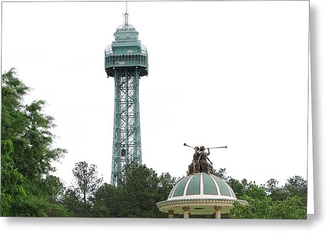 Kings Dominion - Eiffel Tower - 01134 Greeting Card by DC Photographer