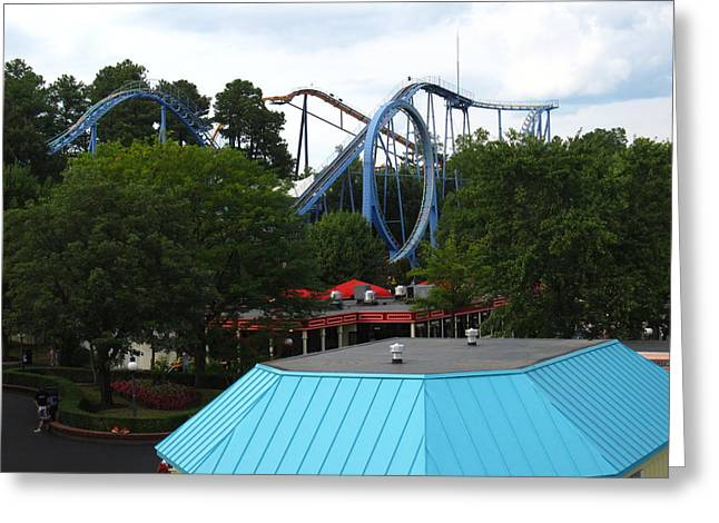 Kings Dominion - Shockwave - 12121 Greeting Card by DC Photographer