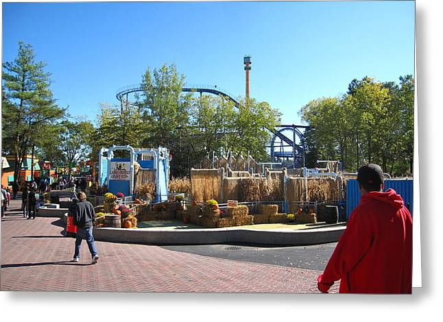 Kings Dominion - Shockwave - 12122 Greeting Card by DC Photographer