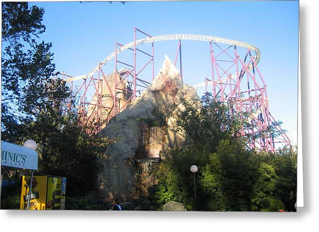 Kings Dominion - Volcano - 01132 Greeting Card by DC Photographer