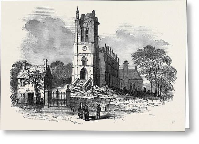 Kings Norton Church, Leicestershire Greeting Card by English School