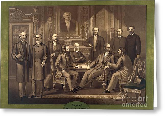 Kings Of Wall Street 1882 Greeting Card