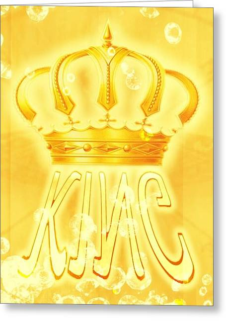 King 2 Greeting Card by Pierre Chamblin