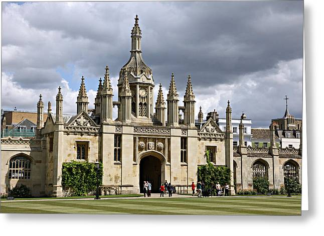 King's Quad Greeting Card by Stephen Stookey
