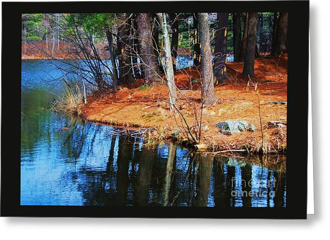 Reflections At Kingsbury Pond, Medfield Greeting Card