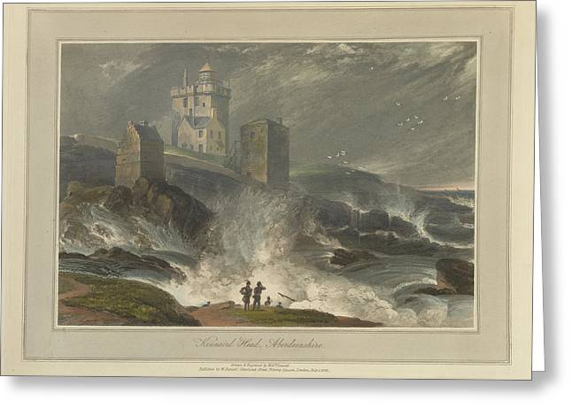 Kinnead Head In Aberdeenshire Greeting Card by British Library