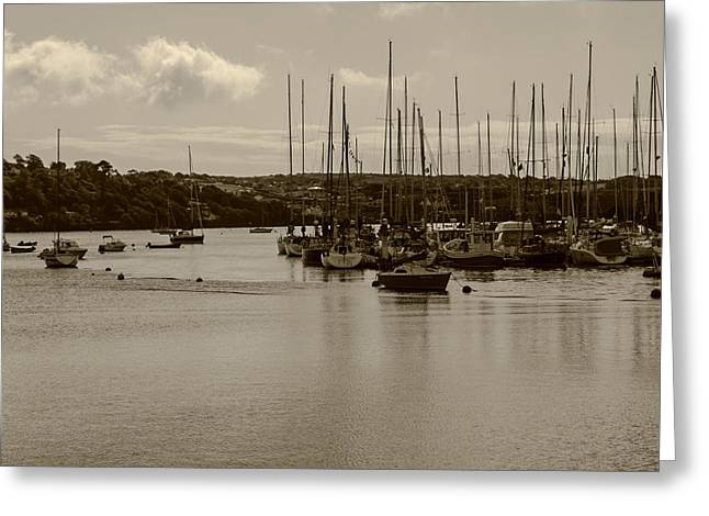 Greeting Card featuring the photograph Kinsale Harbor At Dusk by Winifred Butler
