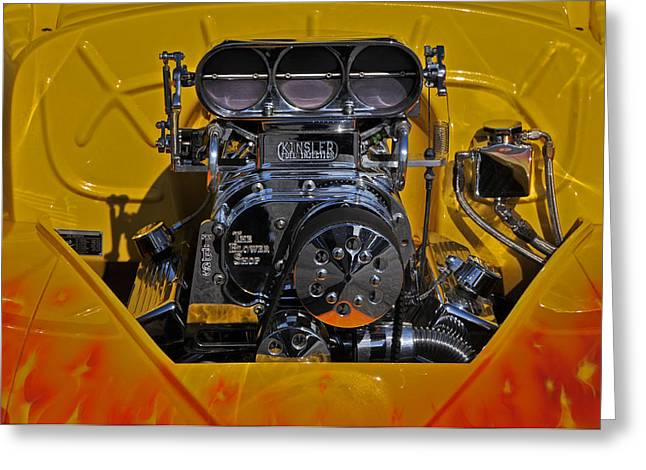 Kinsler Fuel Injection Greeting Card by Mike Martin