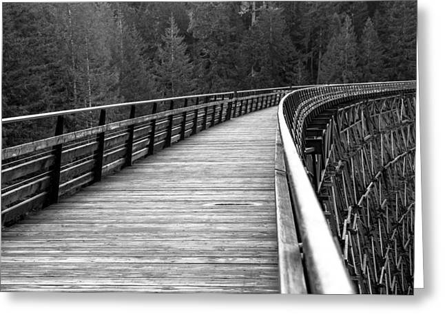Kinsol Trestle Boardwalk  Greeting Card