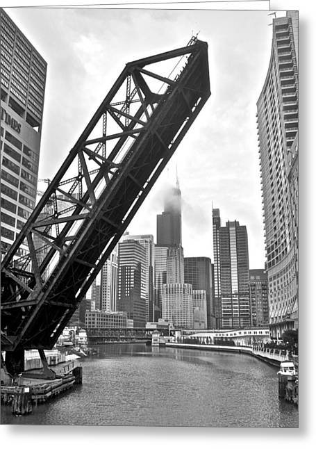 Kinzie Street Bridge Greeting Card