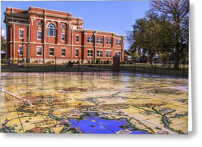 Kiowa County Courthouse With Mural - Hobart - Oklahoma Greeting Card