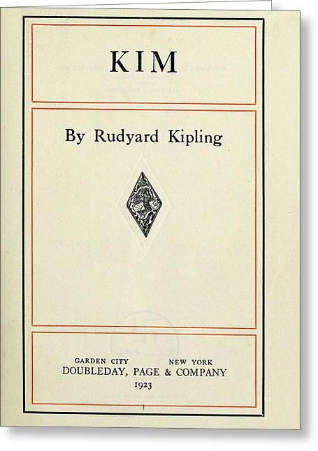 Kipling Kim, 1923 Greeting Card