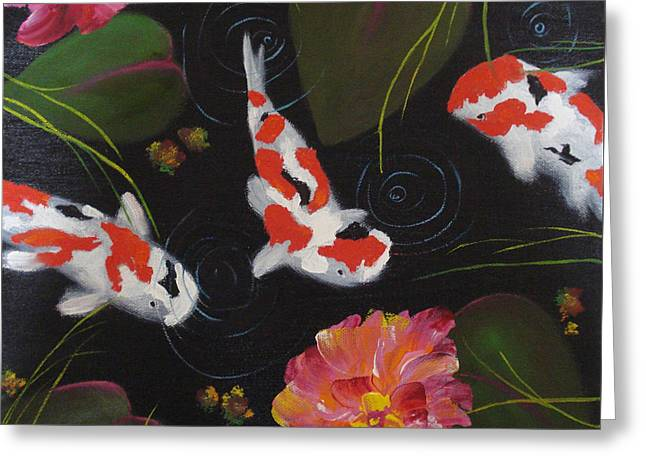 Kippycash Koi Greeting Card