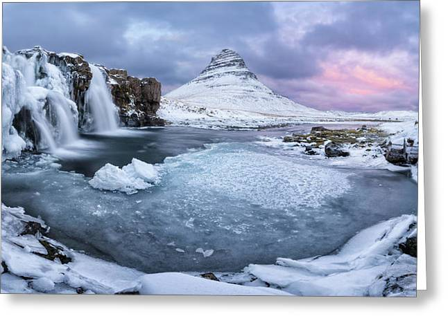 Kirkjufell Pool Greeting Card