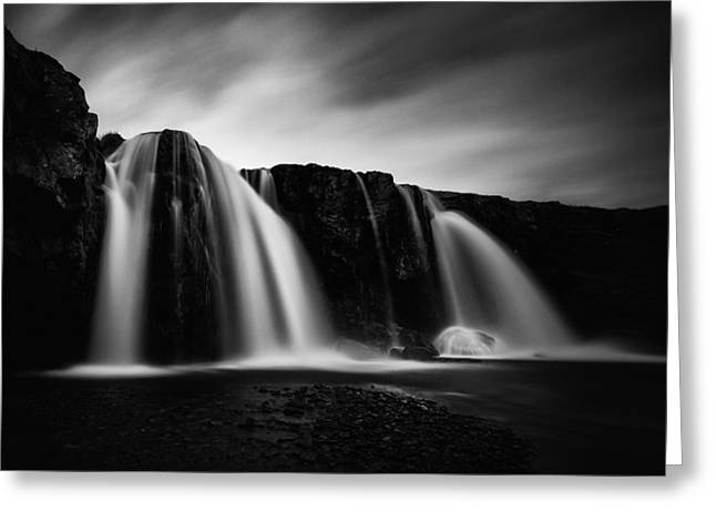 Kirkjufellsfoss Greeting Card by Frodi Brinks