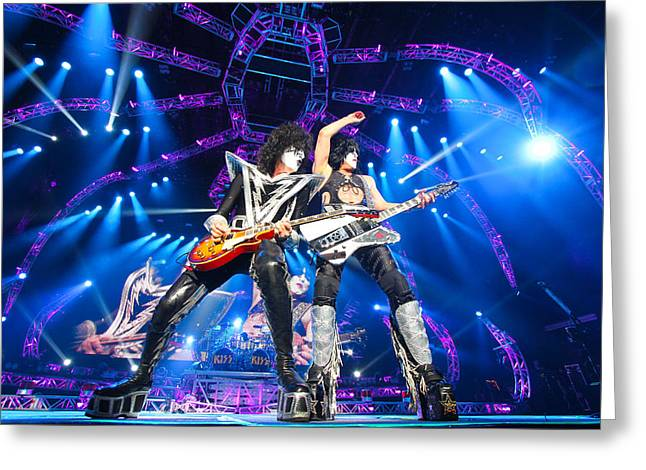 Kiss - 40th Anniversary Tour Live - Stanley And Thayer Greeting Card by Epic Rights