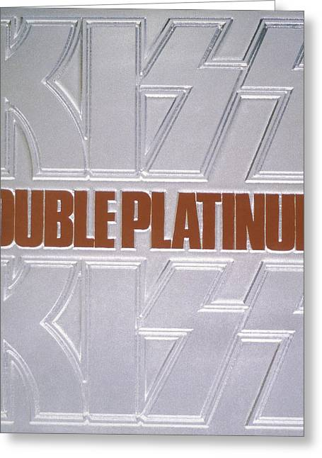 Kiss - Double Platinum Greeting Card by Epic Rights