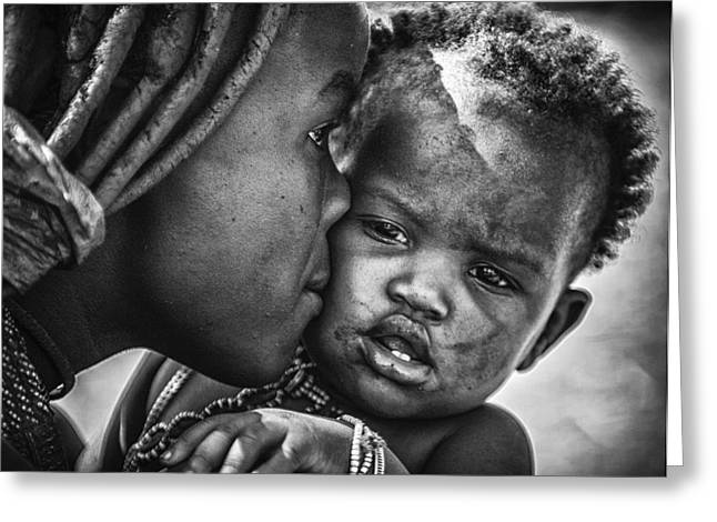 Kiss From Beautiful Himba Mom Greeting Card