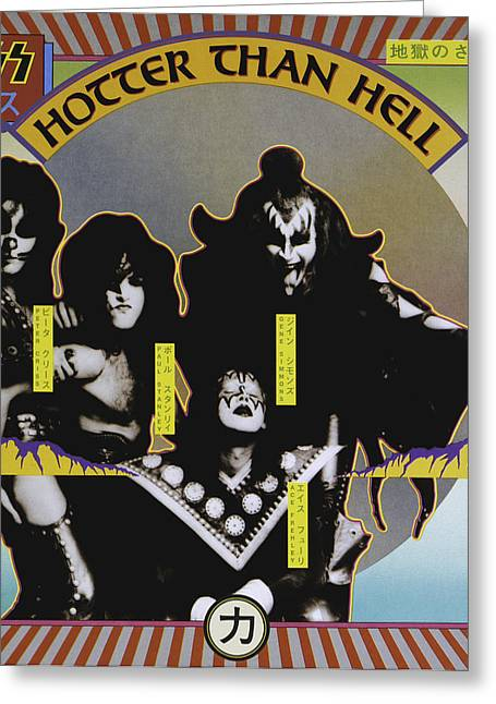 Kiss - Hotter Than Hell Greeting Card by Epic Rights