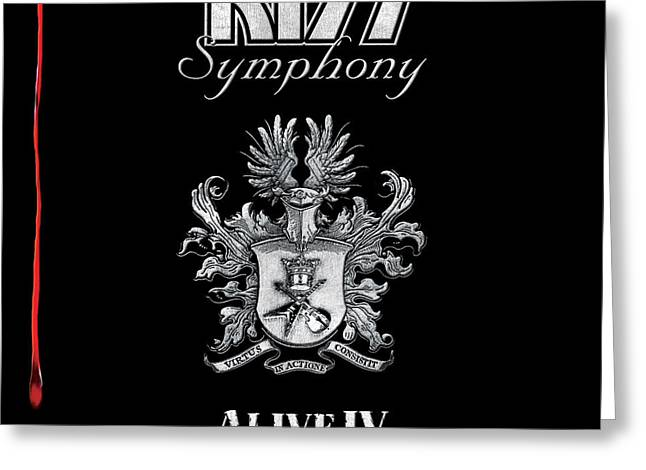 Kiss - Kiss Symphony: Alive Iv Greeting Card by Epic Rights