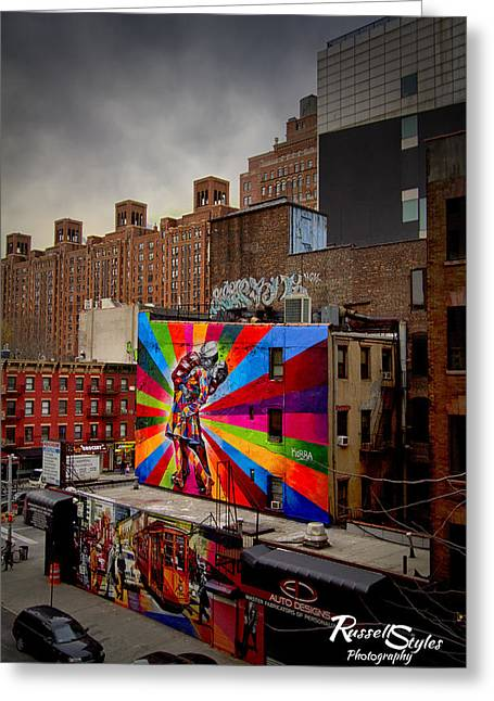 Kiss Me On The High Line Greeting Card