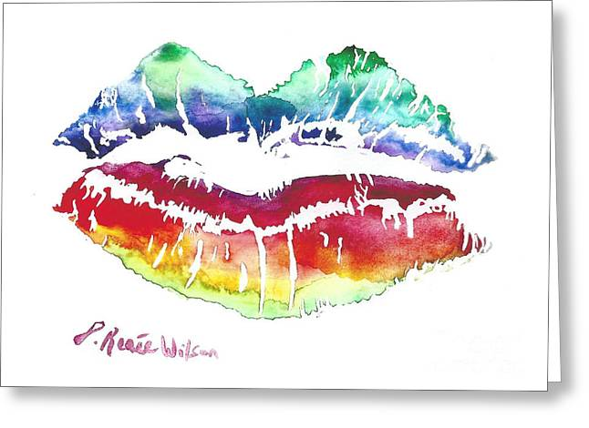 Kiss Of Color Greeting Card by D Renee Wilson