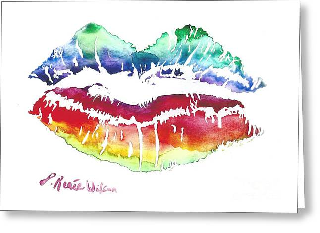 Kiss Of Color Greeting Card