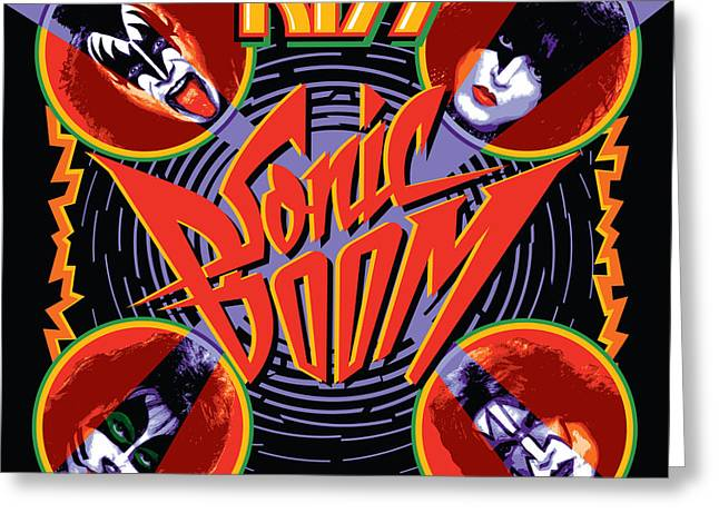 Kiss - Sonic Boom Greeting Card by Epic Rights