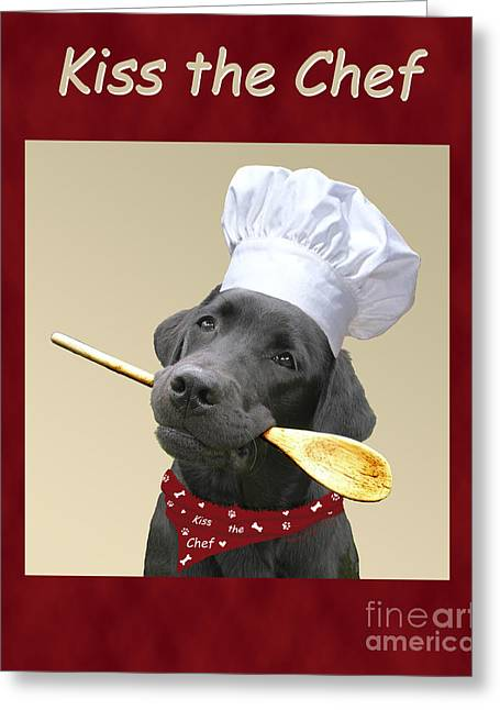 Kiss The Chef Greeting Card