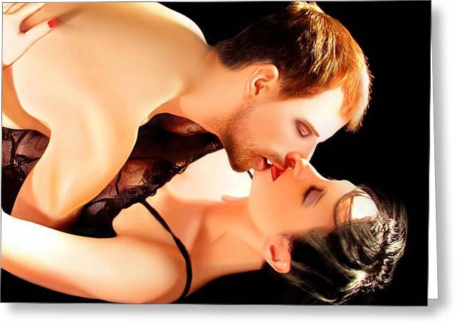 Kissed By An Angel Greeting Card by Jaeda DeWalt