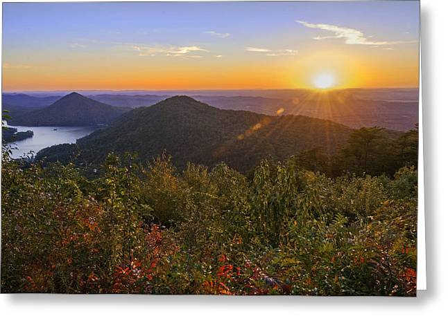 Kissed By The Setting Sun Greeting Card