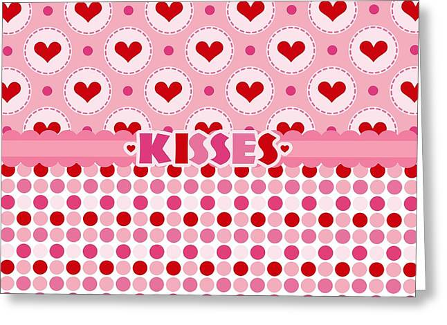 Kisses Greeting Card by Debra  Miller