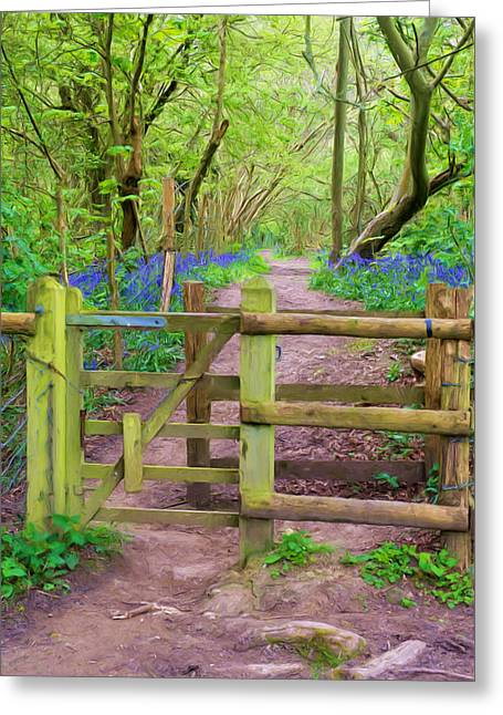 Kissing Gate Painting. Greeting Card