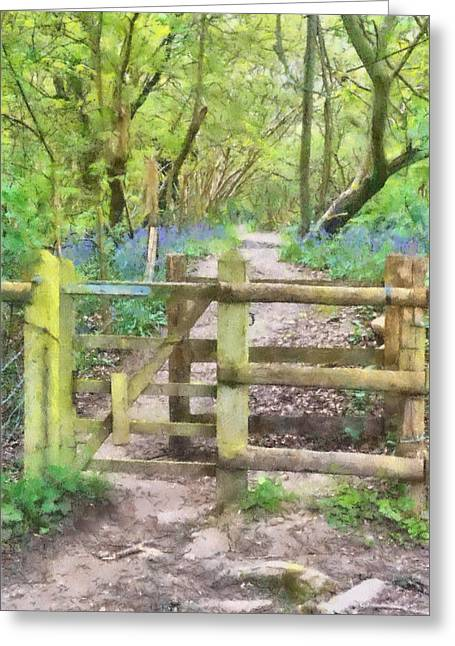 Kissing Gate Watercolour Greeting Card