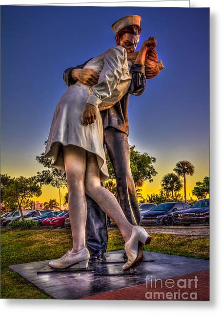 Kissing Sailor Greeting Card by Marvin Spates