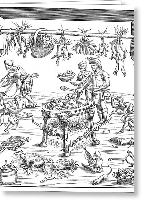 Kitchen, 1549 Greeting Card by Granger