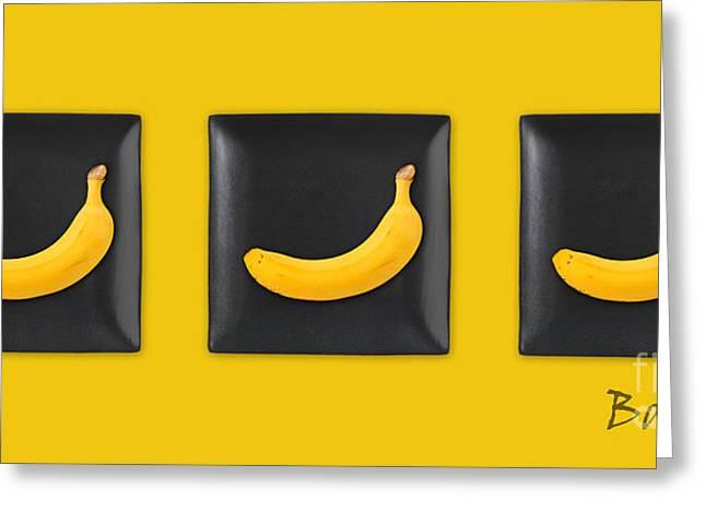 Kitchen Art - Bananas - V02 Greeting Card